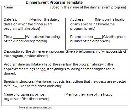 JEWELERS Association AWARDS DINNER INVITATIONS PICS | Program Template For  Dinner Event Sample Of Dinner Event