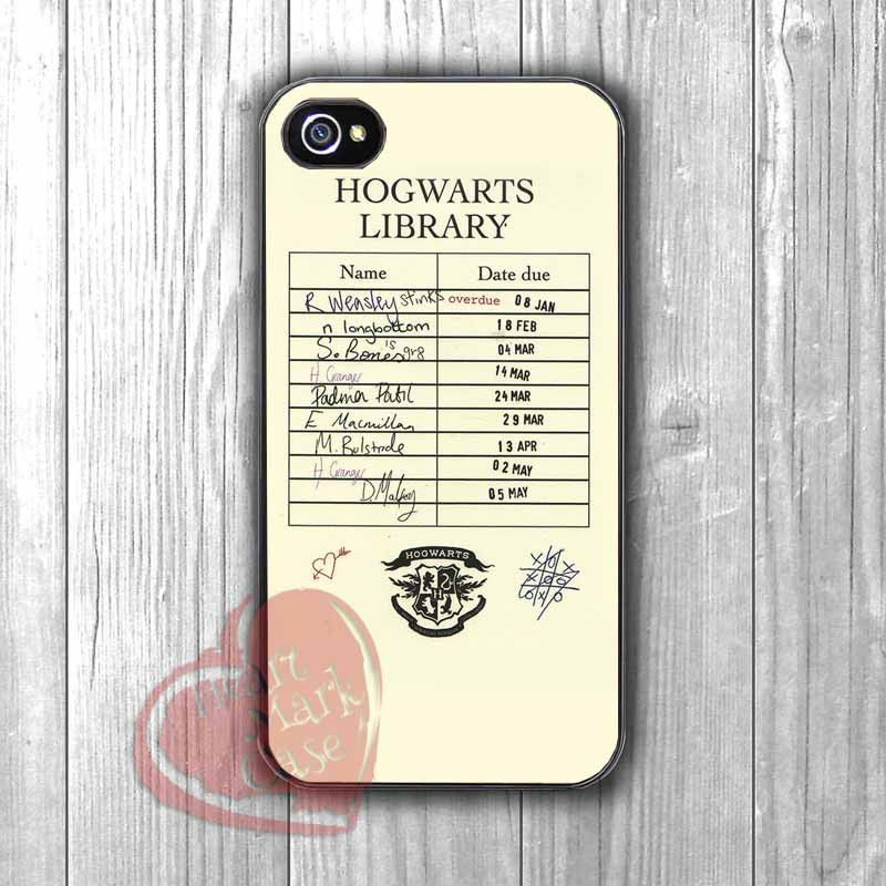 5006dc8d82 Harry potter hogwarts library card - DIT for iPhone 6S case, iPhone 5s case,  iPhone 6 case, iPhone 4S, Samsung S6 Edge