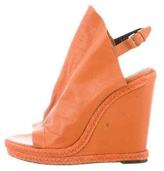 c40a0f8e919 Leather Glove Wedges   Products   Wedges, Orange sandals, Shoes