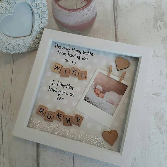 Birthday Present Mother Frame For Mum Mummy Gift Mom Gifts Her Personalised Scrabble Wife