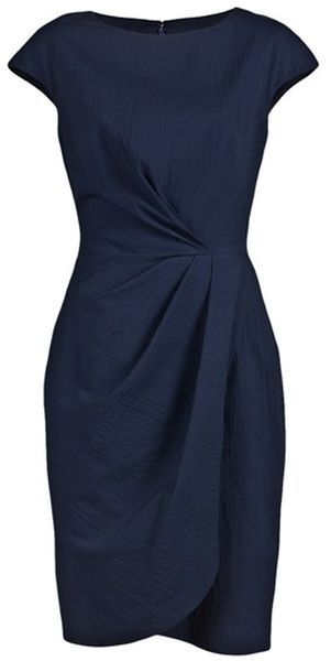 Elegant mid length navy blue dress | My Style | Pinterest | Navy ...