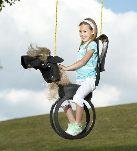 Recycled Tires Horse Swing A Great Way For Young