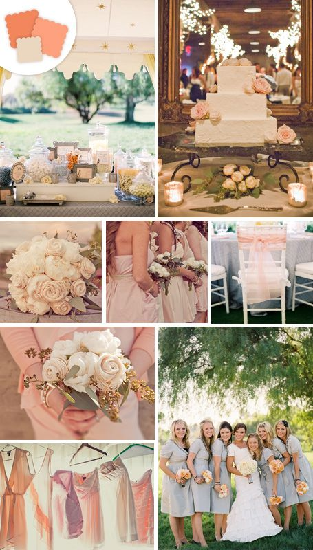 Classic color idea peach perfect pairings tan cream for Table linen color combinations