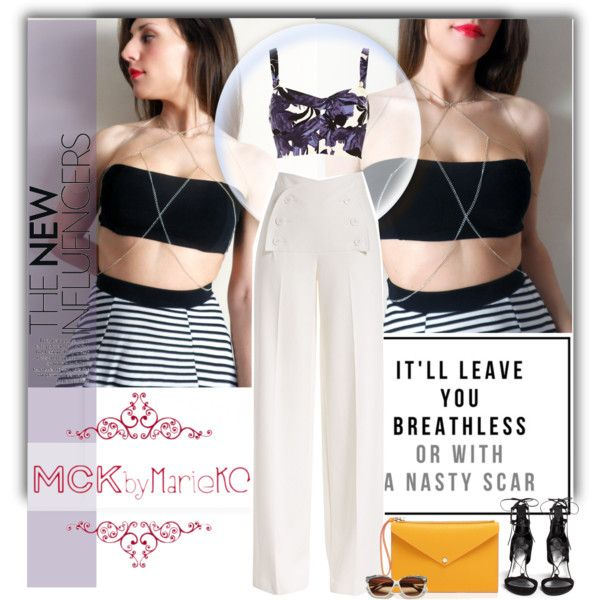 New item! How to style MCKbyMarieKC body chain! by mariekc on Polyvore featuring moda, River Island, Derek Lam, Stuart Weitzman and Marc by Marc Jacobs