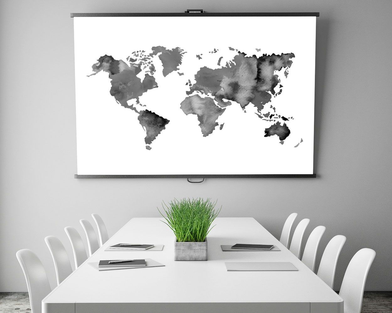 World map print large world map watercolor map black white world map print large world map watercolor map black white inspirational wall gumiabroncs Gallery