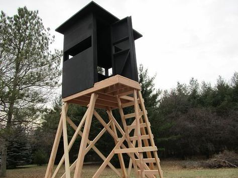 tower deer stand project hunting pinterest deer