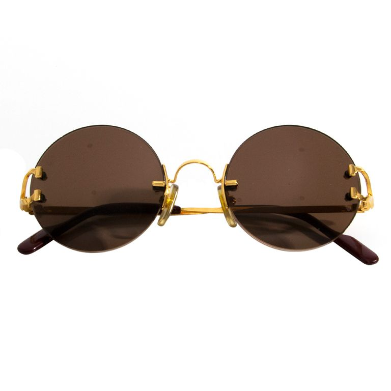 30440a2649 -Cartier model from the early 90s. Round eyes sunglasses in the 90s