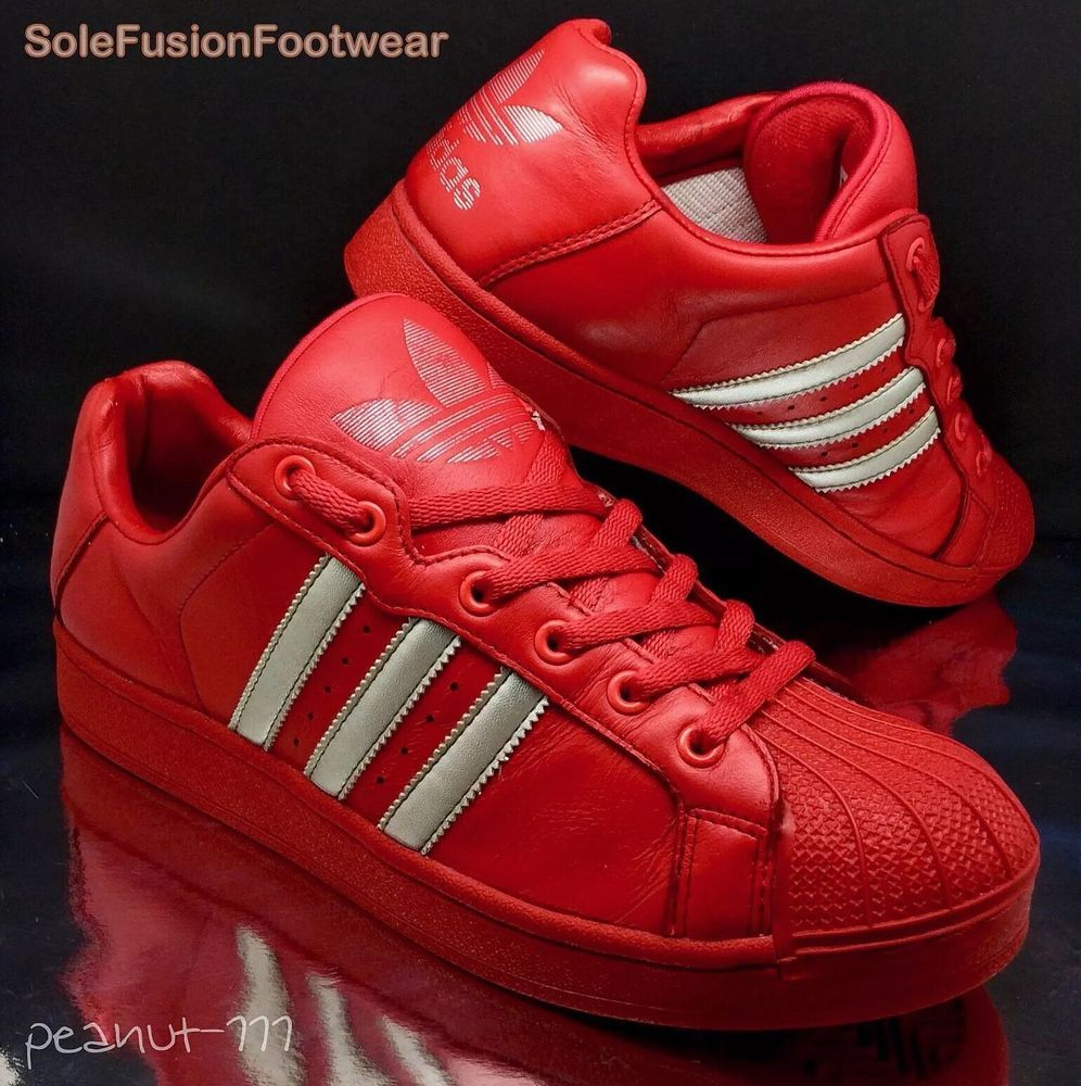 adidas Originals Mens Superstar Red/Silver size 8.5 Ultrastar Trainers US 9  42.6 in Clothes