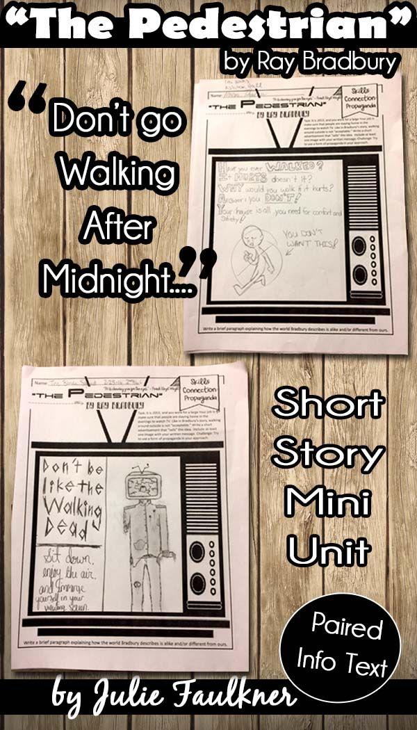 The Pedestrian Mini Unit By Ray Bradbury Teaching Ela 7 12