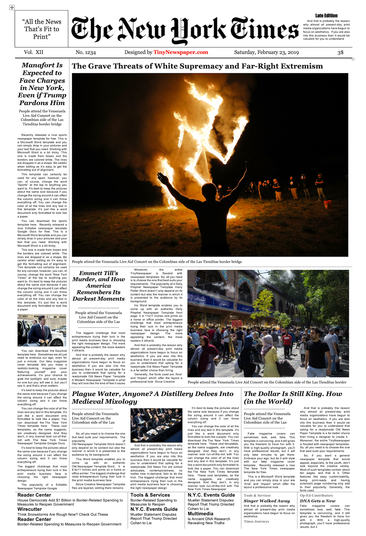 Editable New York Times Newspaper Template Newspaper Template Blank Newspaper Newspaper