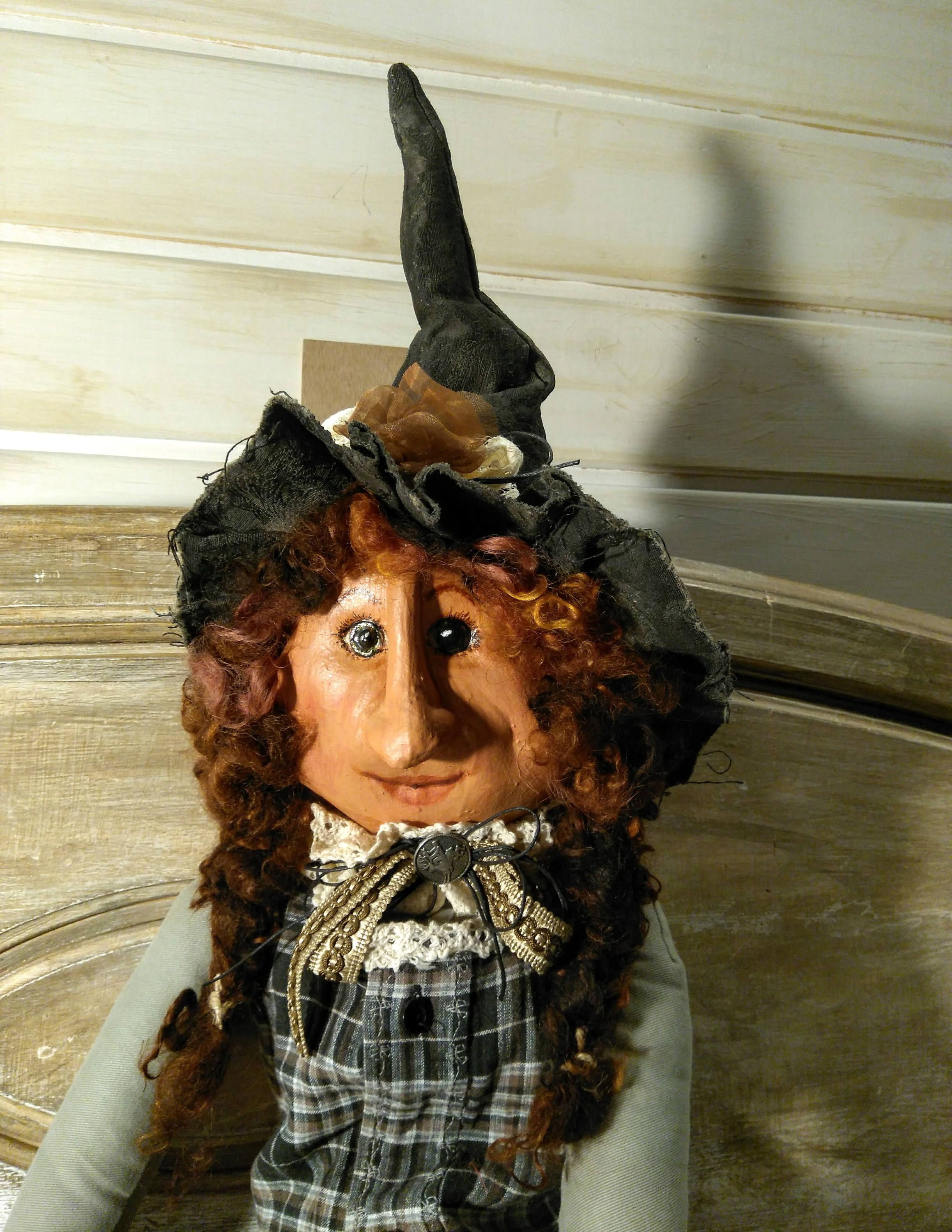 Primitive Witch - Handmade Doll - Primitive - Halloween Decor - Art - Primitive Halloween Decor