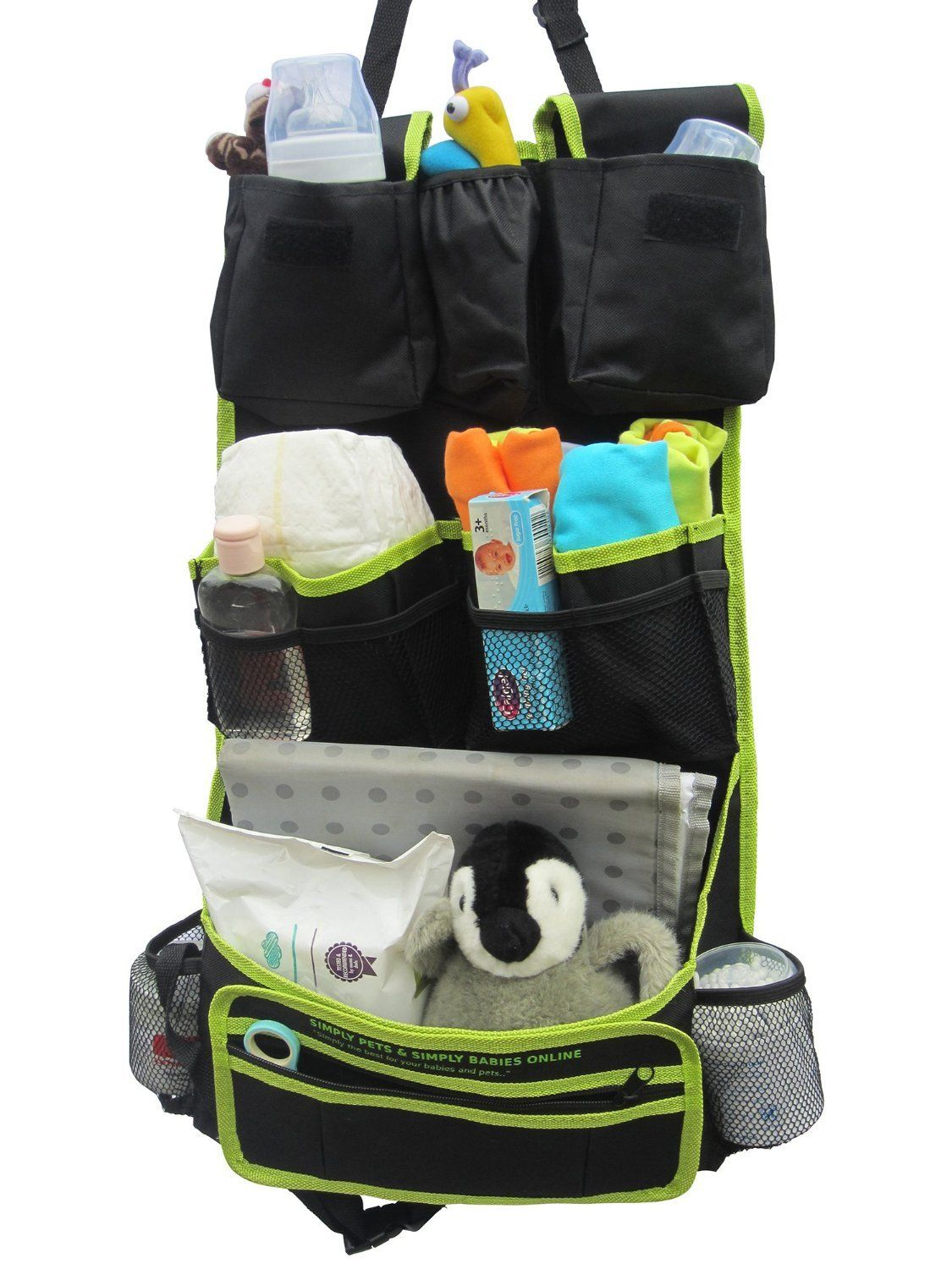 Back Seat Organizer ALL 15 Pockets In Various Sizes