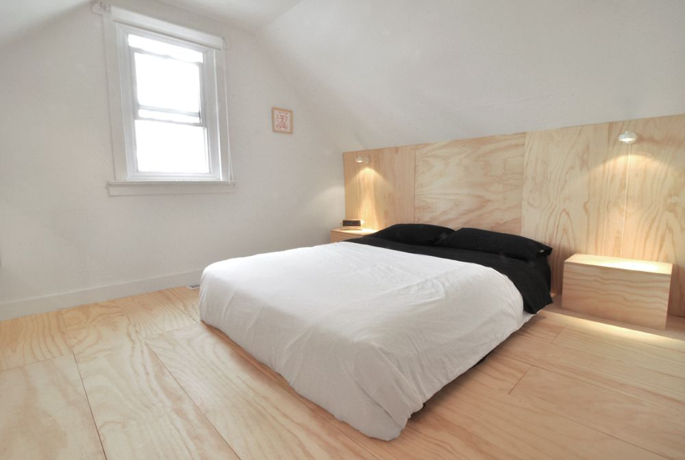 Plywood Flooring Four Step Plan To Affordable Flooring Plywood Interior Plywood Flooring Plywood Headboard