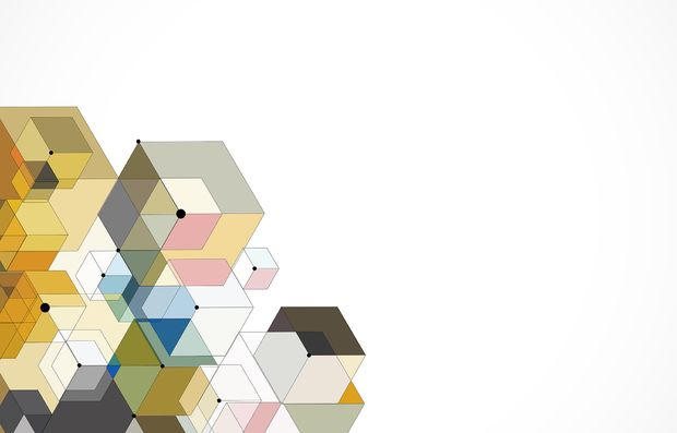 Abstract Color Hexagons photowall.no