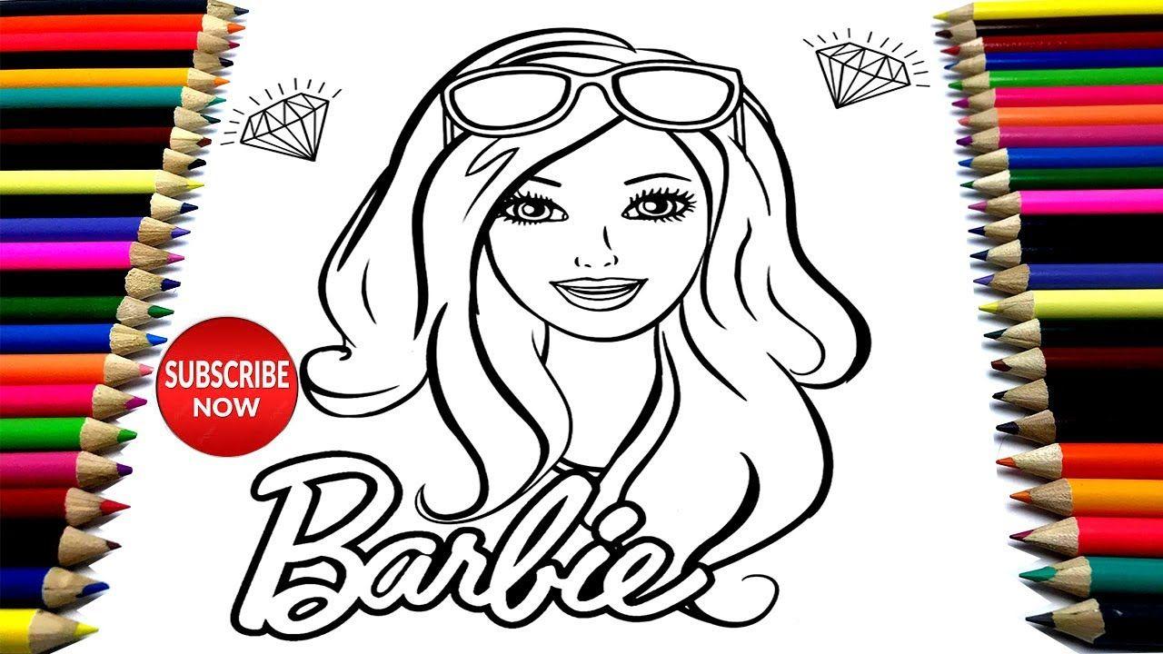 Belajar Cara Menggambar Dan Mewarnai Princess Barbie Barbie Elegante M Barbie Princess Barbie Cara