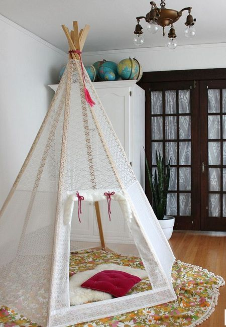 como hacer un tipi pinterest kinderzimmer ideen spielzeug und kinderzimmer. Black Bedroom Furniture Sets. Home Design Ideas