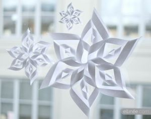 template 3d paper snowflake patterns  Pin on Navidad =)