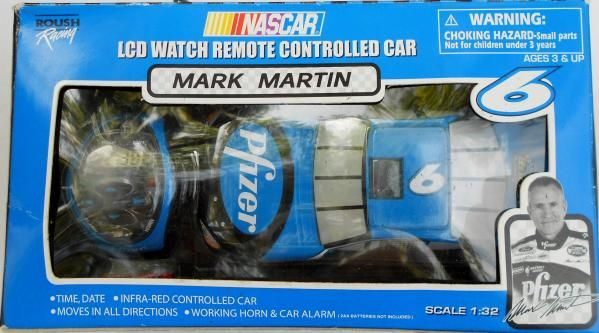 MARK MARTIN LCD WATCH REMOTE CONTROLLED CAR 1/32 SCALE  FREE SHIPPING!!
