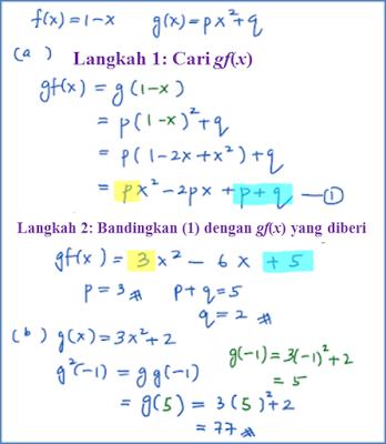 1.3b Fungsi Gubahan (Kaedah Perbandingan) Contoh Soalan