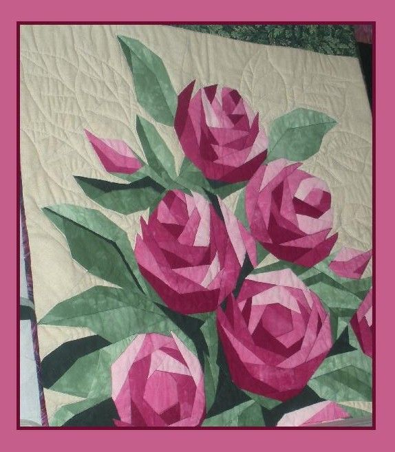 pieced roses