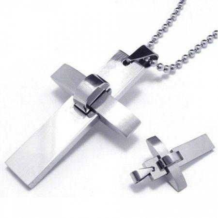 Mens boys silver pure titanium cross pendant necklace 09247 mens boys silver pure titanium cross pendant necklace 09247 mozeypictures Choice Image