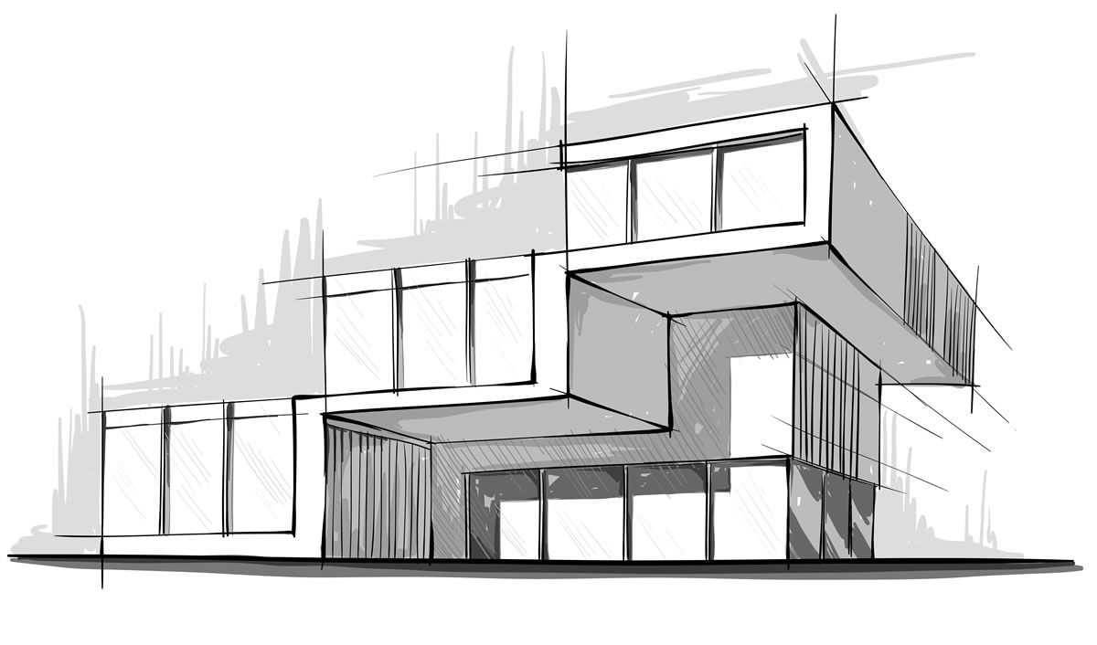 Modern architecture sketches google search sketching for Architecture design drawing