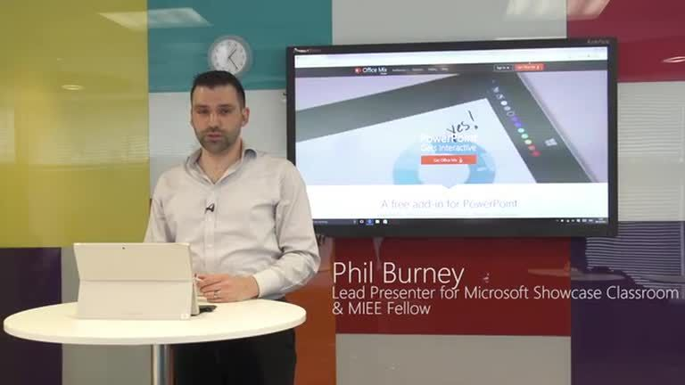 Phil Burney, lead presenter in the Microsoft Showcase Classroom, takes you through a short demo introducing Office Mix. Mix is a free add-on to PowerPoint avai…