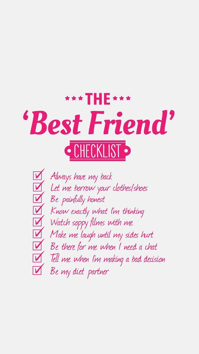 Is this stuff your best friends do? Love you friend