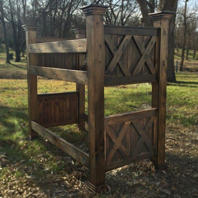 Barnwood Bunk Bed | Barn wood, Wood bunk beds, Barn door