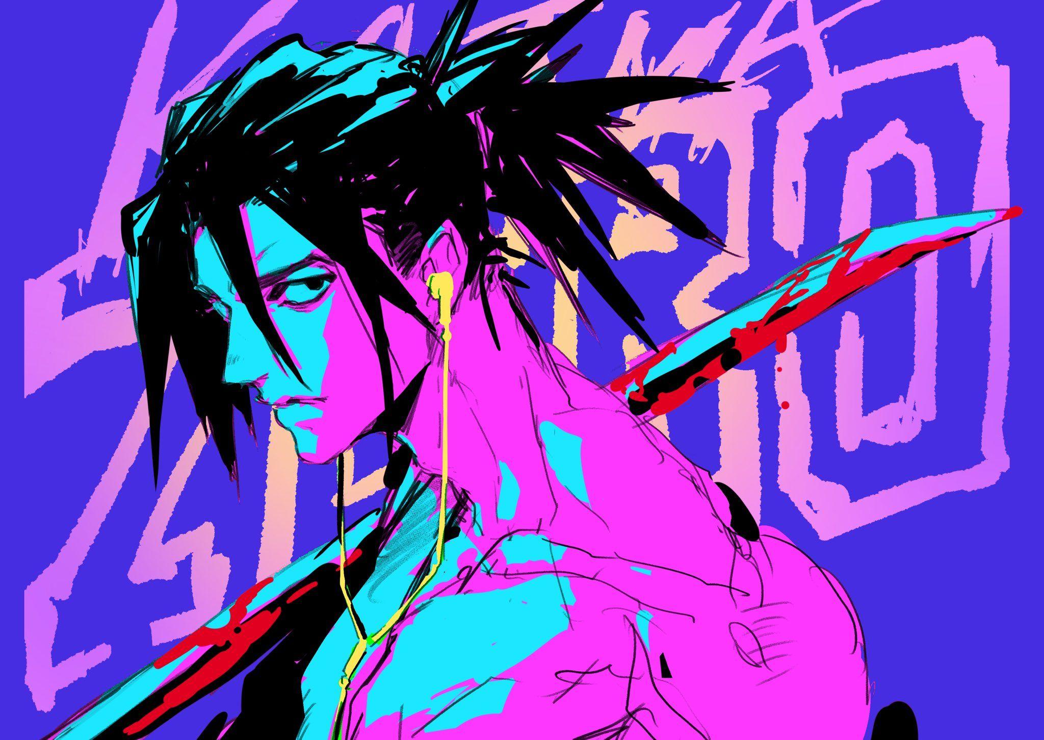 Twitter in 2020 Retro gaming art, Ninja wallpaper, Katana