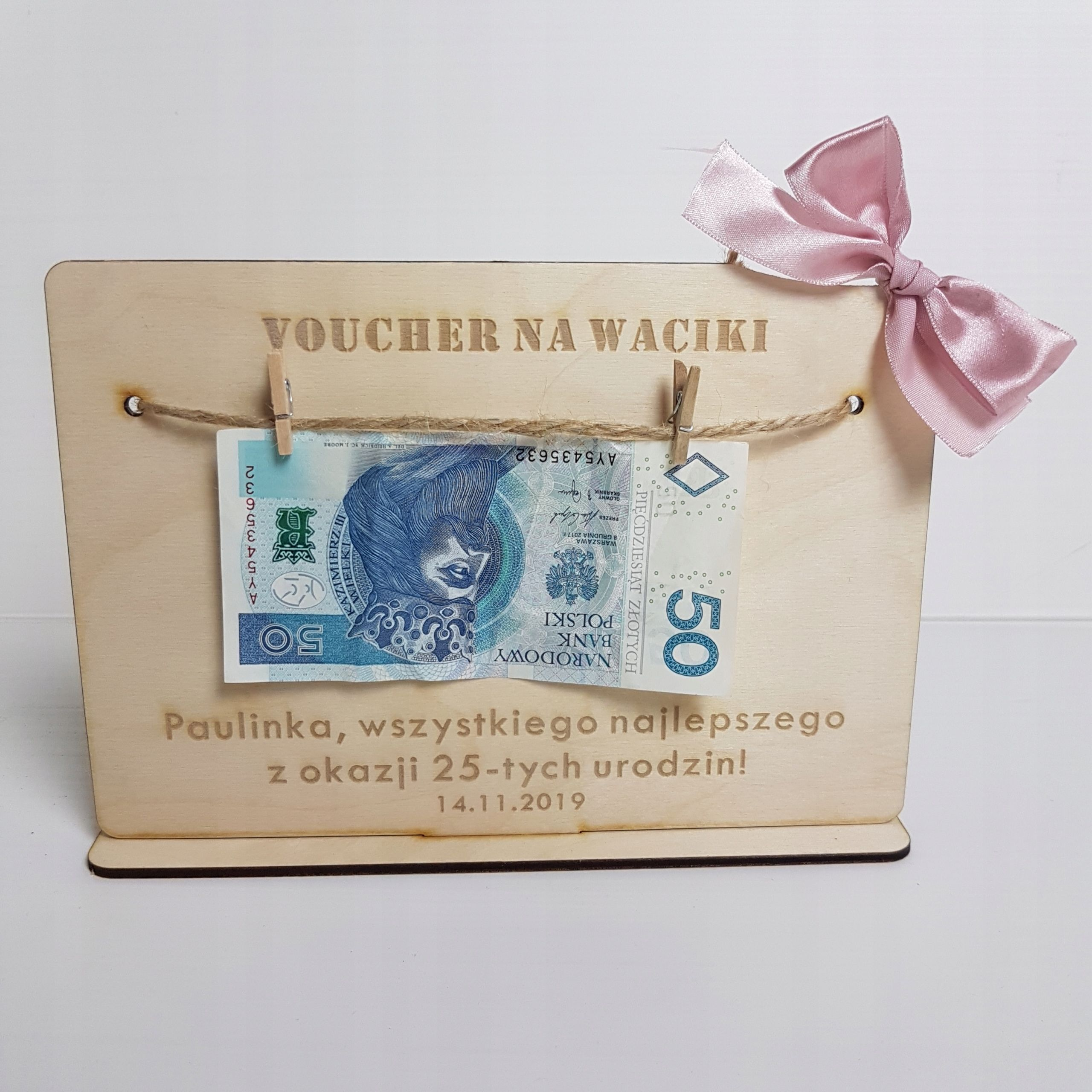 Voucher Na Waciki Prezent Na Urodziny Mikolaja Diy Gifts Gifts Diy And Crafts