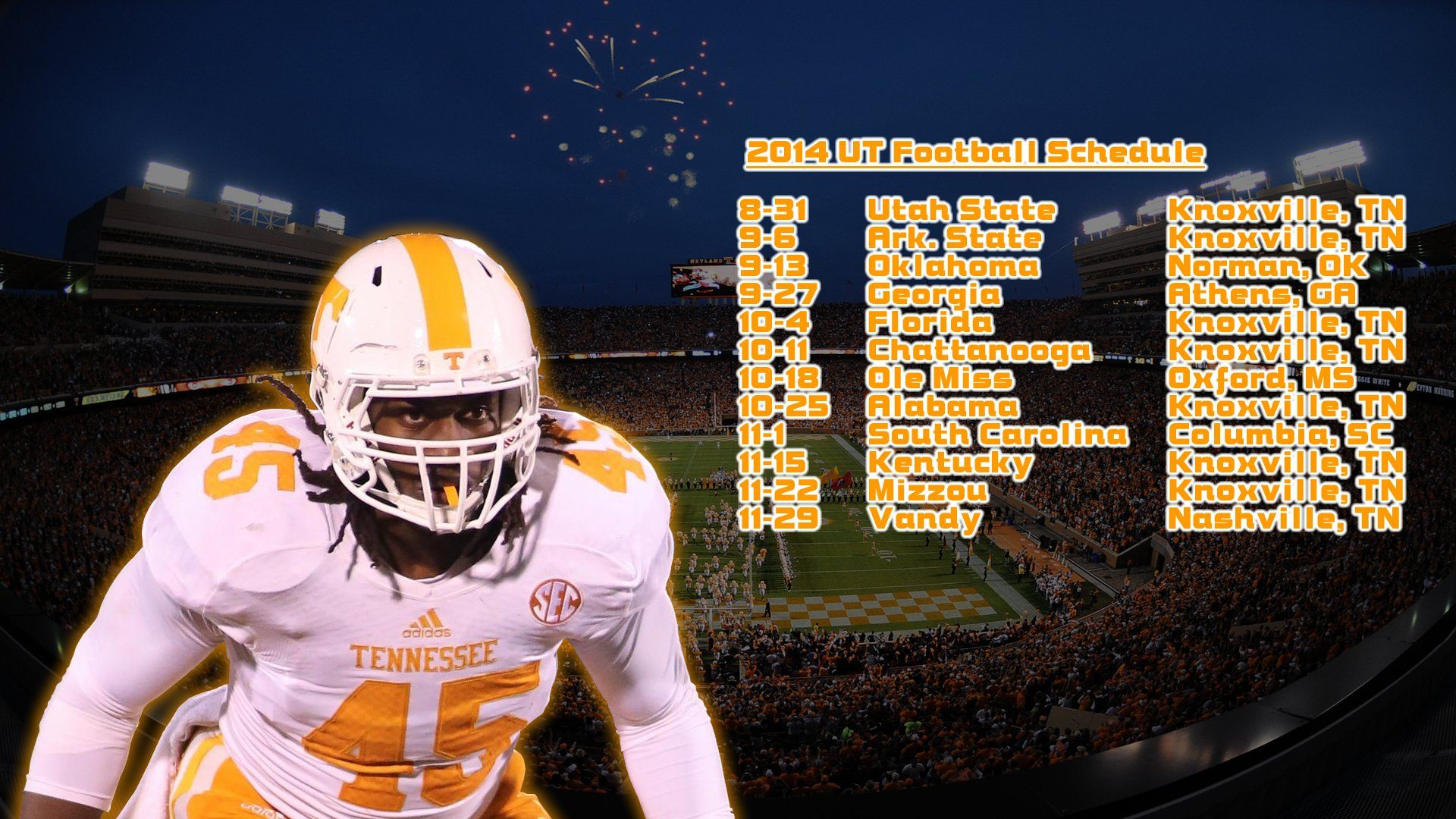 футбол 1 Wallpaper: Free Tennessee Volunteers IPhone IPod Touch Wallpapers