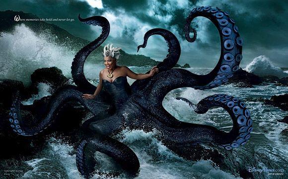 Annie Leibovitz for Disney: Queen Latifah as Ursula from The Little Mermaid / Annie Leibovitz per Disney: Queen Latifah è Ursula de La Siren...