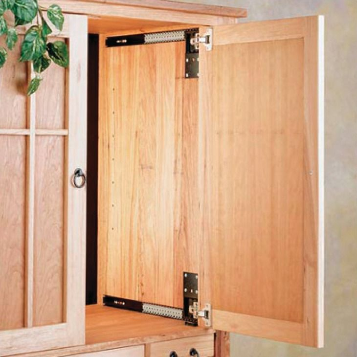 Hafele America pocket door system accuride 1234 hinges not included in the
