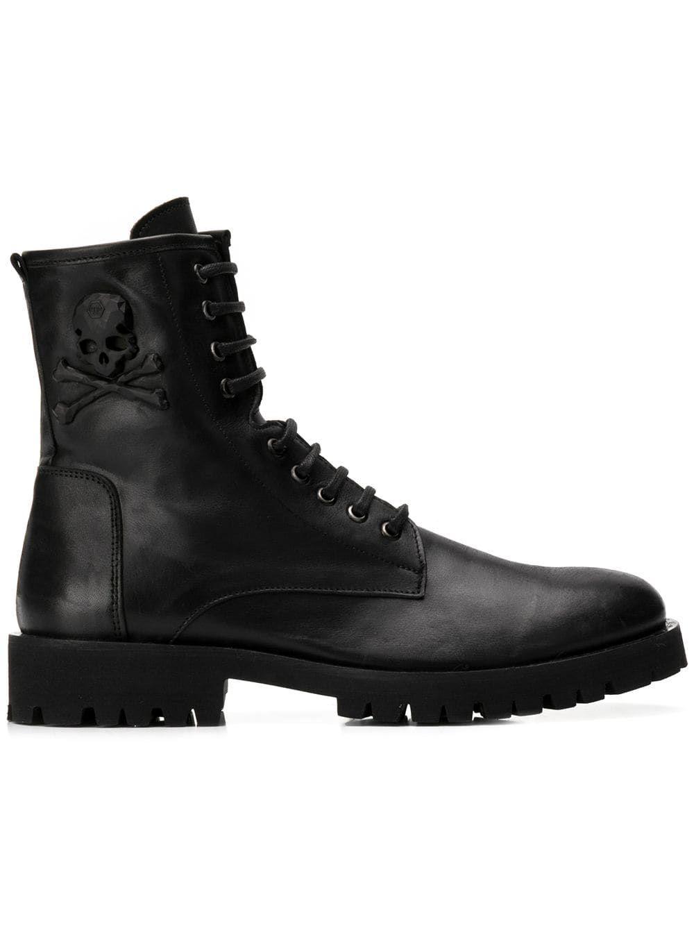 b5cd0f90a34 PHILIPP PLEIN PHILIPP PLEIN ROCK MAN BOOTS - BLACK.  philippplein  shoes