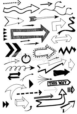 arrow doodles Royalty Free Stock Photo