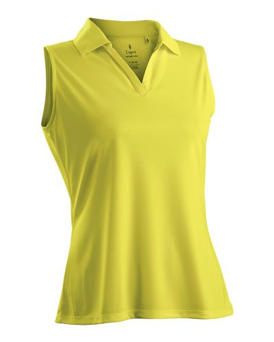 8687bdf848f0e Lemon Nancy Lopez Ladies   Plus Size Sleeveless Golf Shirts (Luster)! Find  the best golf outfits at  lorisgolfshoppe