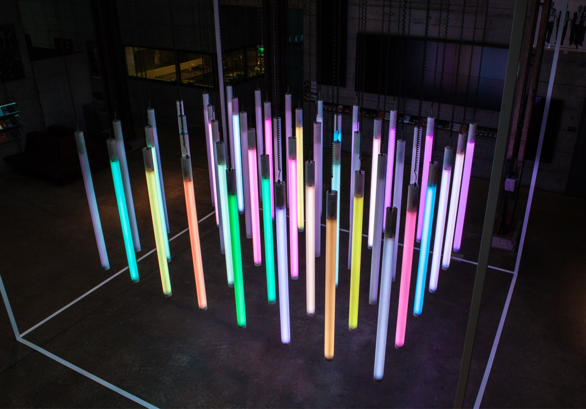 Kinetic Light Installation Installation Magic Light Art Electronics Led Color Motors Tubes Https Wearelucid Ch P Lichtinstallation Lichtideen Licht