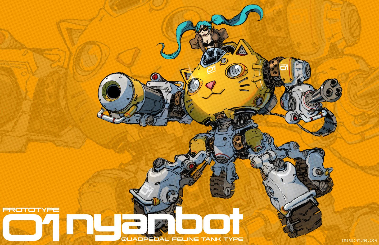 Nyanbot , Emerson Tung on ArtStation at https://www.artstation.com/artwork/nyanbot