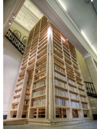Ark Bookshelf Tower Holds 6000 Books I Need This Can Hear Jerry Now Yelling About Needing To Put Supports Under The House