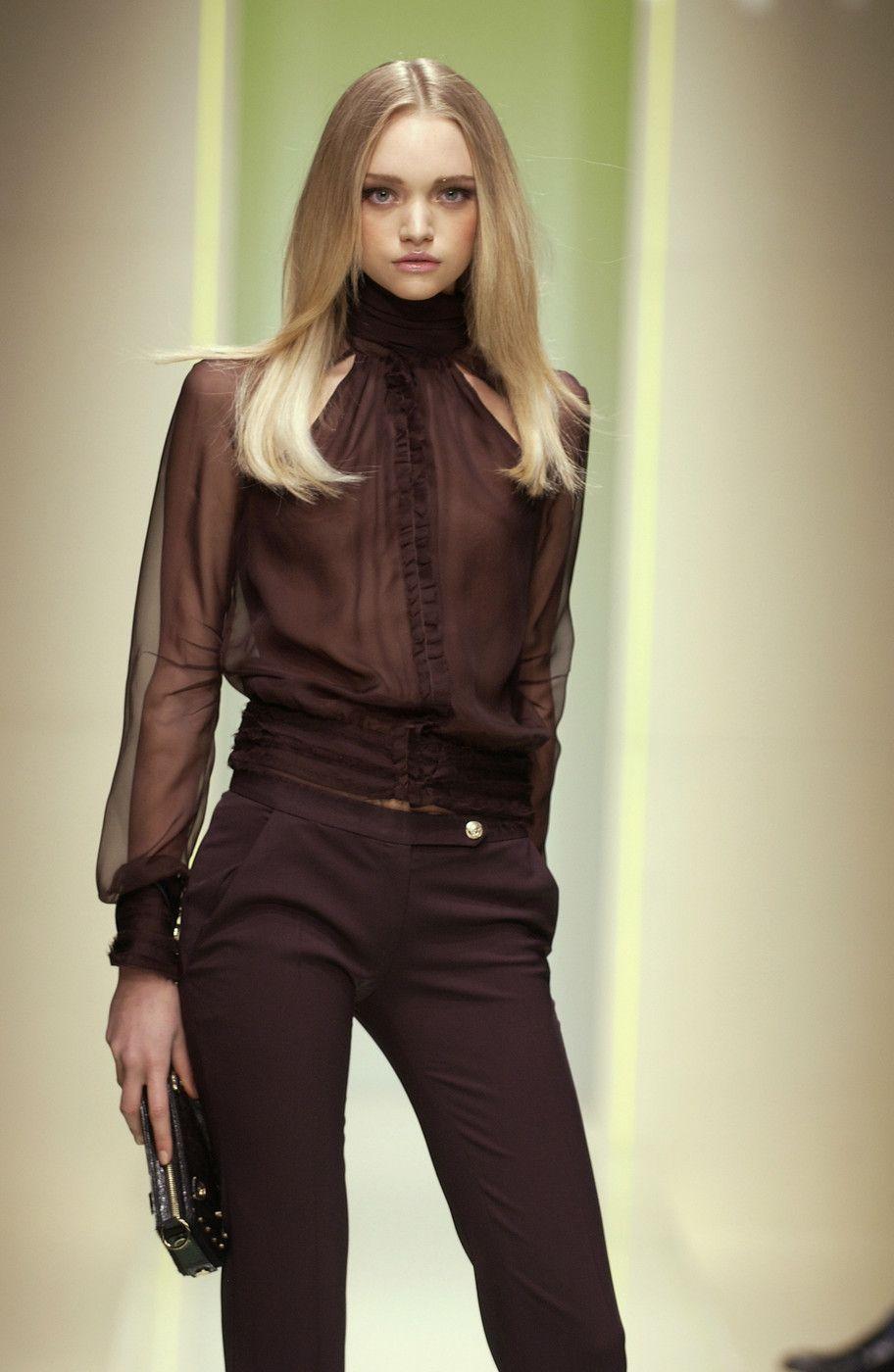 Versace At Milan Fashion Week Fall 2005 Fashion Gemma Ward I