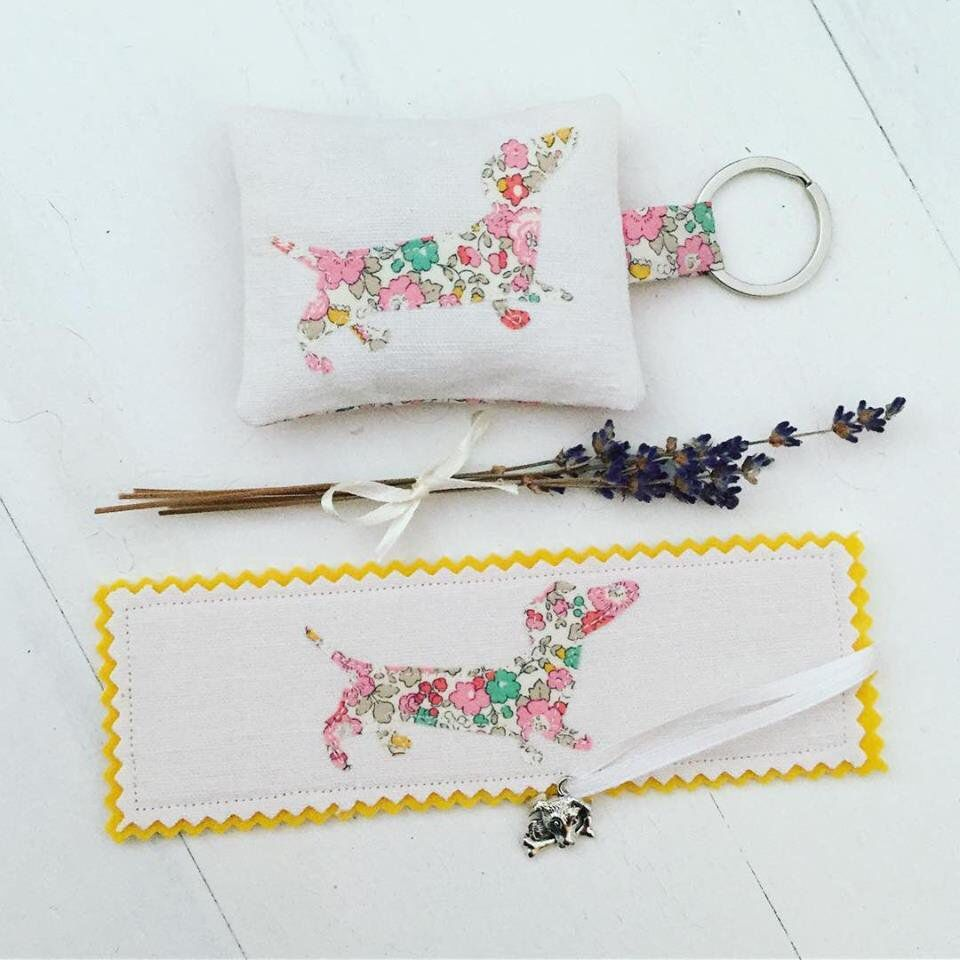 This sweet Keyring and Bookmark Gift Set is the last in my range of Liberty  Daschund 76fe4352f