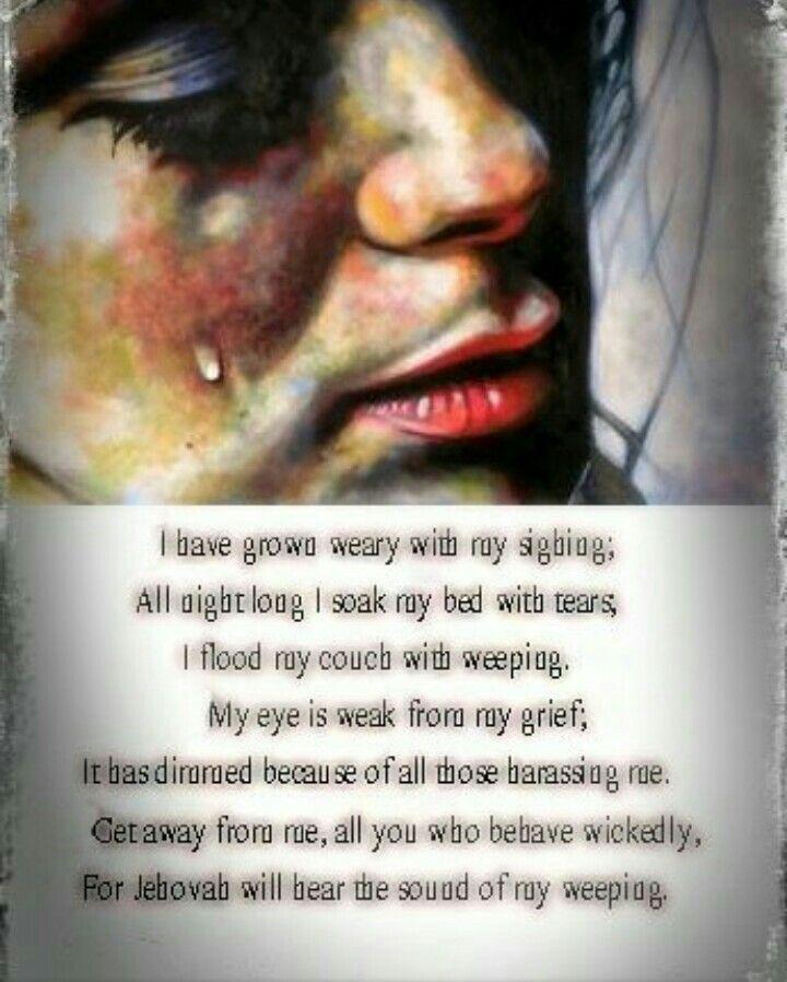 Psalms 6:6-9