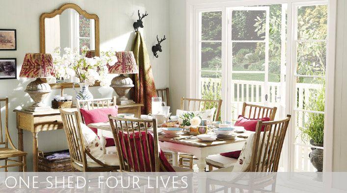 One shed four lives oka furniture design dining