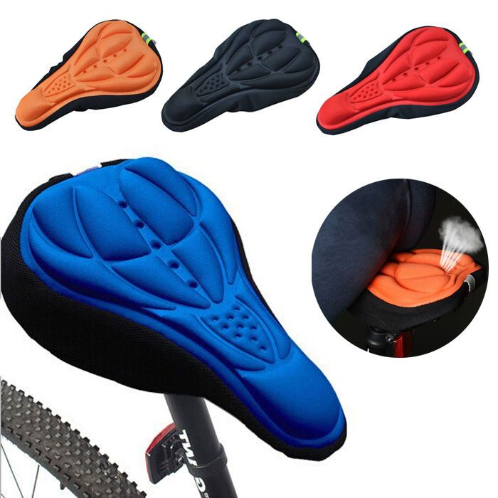 3D GEL Silicone Bike Bicycle Comfort Saddle Seat Pad Cushion Cover Cycle Cover