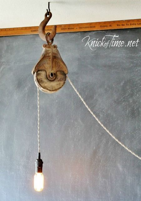 Diy Barn Pulley Light Via Knick Of Time It Perfect For Any Farmhouse Loft Or E