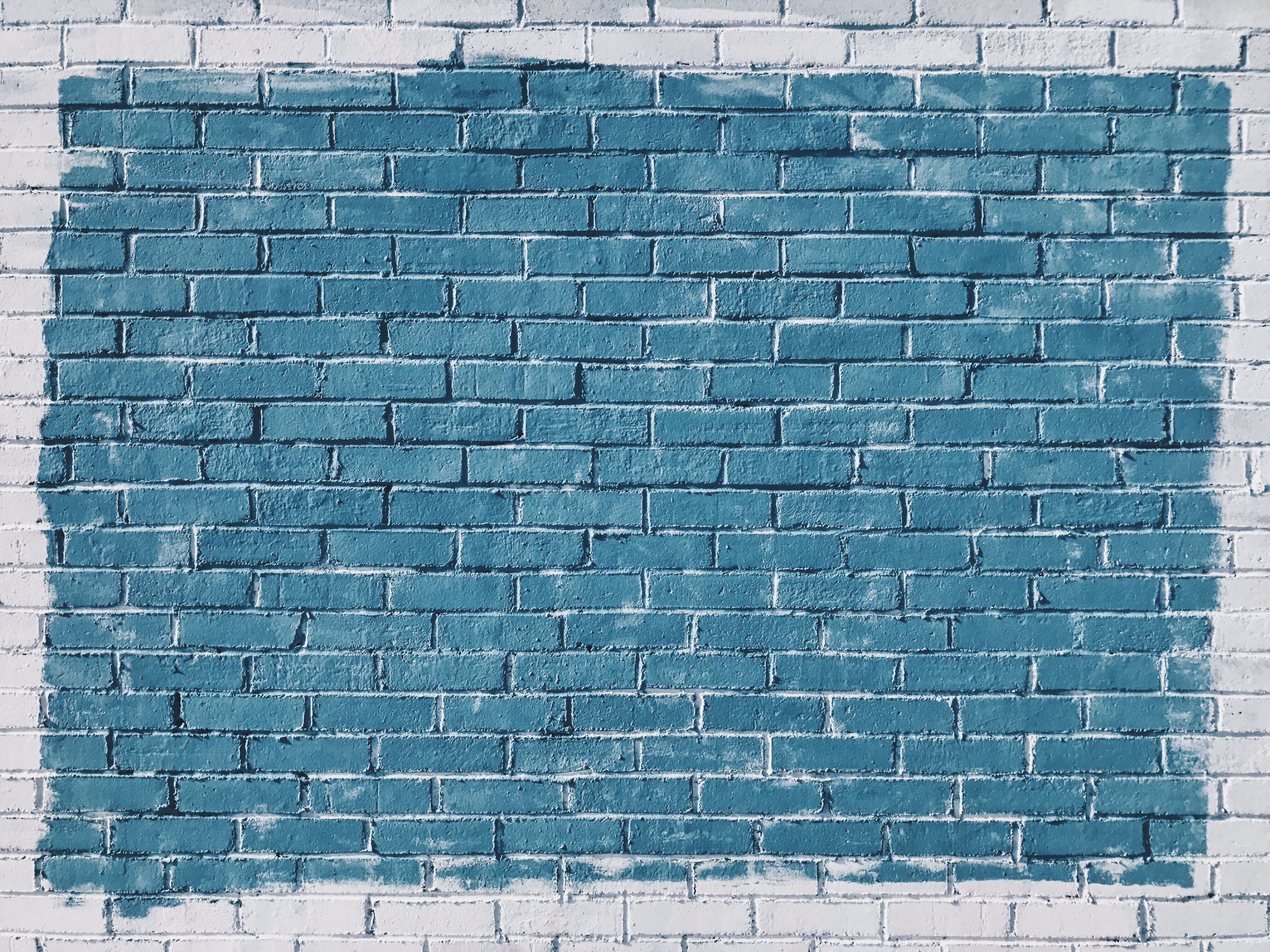 Gray Concrete Bricks Painted In Blue Blue And Gray Brick Wall Brick Color Colour Wall White Blue Brick W Murakami Quotes Dawn Quotes Book Quotes Classic