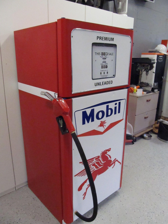 Man Cave Bar Fridge : Mobil gas beer fridge man cave pinteres