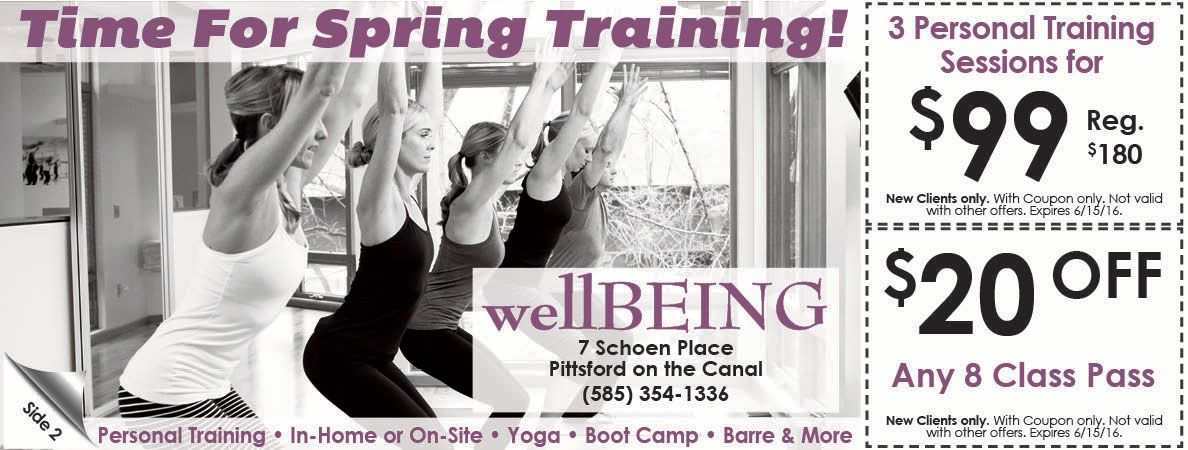 WellBeing savings on fitness and yoga classes! TPI certified to help ...