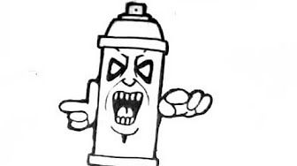 How To Draw An Easy Skull Spray Can Youtube Graffiti Drawing Spray Can Drawings